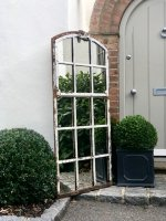 Vintage Industrial Window Mirror