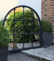 Black Painted Architectural Home and Garden Mirror