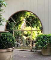 Large Arched Antique Home and Garden Mirror