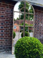 Window Mirror Original Rare Tall Arch two piece