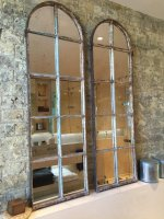 Arched Architectural Reclaimed Window Mirrors