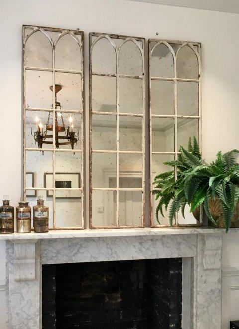 Aged White Architectural Decorative Mirror Panels Architectural White Mirrors Dwp 13 Aldgate