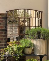 Antique Rustic Slow Arch Home and Garden Mirror