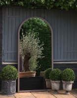 Full Arch One Piece Garden and Home Mirror