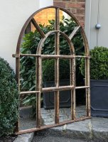 Antique Full Arch Rustic Mirror