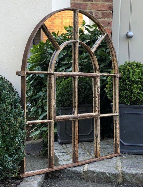 Antique Full Arch Rustic Mirror Rustic Antique Arch Mirror