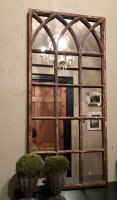 Rustic Reclaimed Small Decorative Mirror Panel