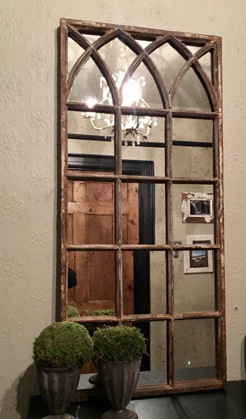 Rustic Reclaimed Small Decorative Mirror Panel rustic ...