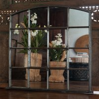 Slow Arch Cast Iron Window Frame Mirror