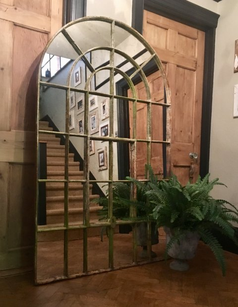 Industrial Factory Arch Window Mirror Industrial Arched