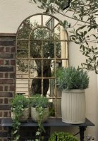 Arched Antique Garden and Home Mirror