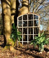 Reclaimed Garden Arch Architectural White Rustic Mirror