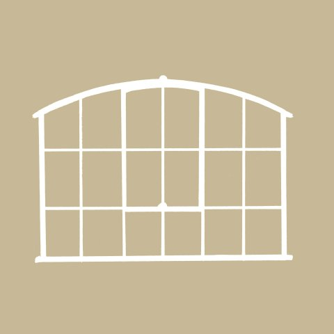Wide Factory Arched Window Mirror Wide Factory Arched
