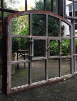 Belgian Industrial Home and Garden Arch Mirror