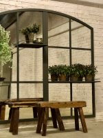 Large Shelved Garden and Home Mirror