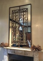 Decorative Vintage Ironwork Mirror