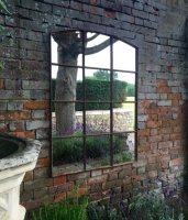 Garden Industrial Iron Mirror