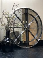 Extra Large Industrial Interior Ironwork Circular Mirror