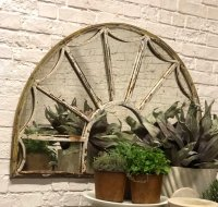Georgian Arched Decorative Antique Mirror