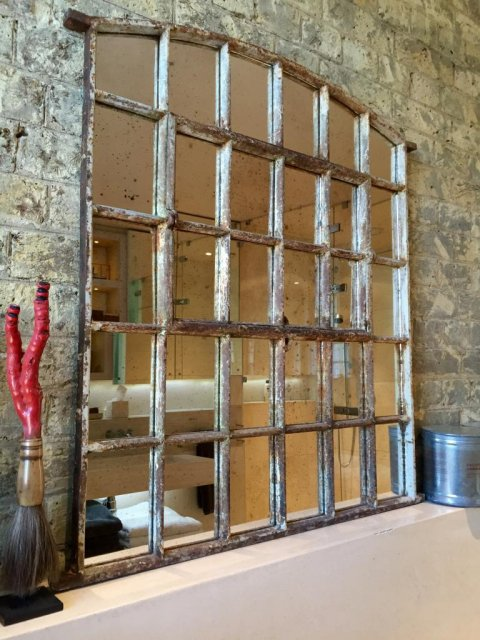 Antique Slow Arch Window Mirror Antique Arch Window Mirror