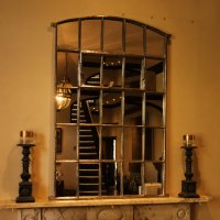London Stable Slow Arch Decorative Window Mirror