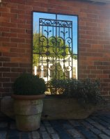 Decorative Vintage Ironwork Garden Mirror