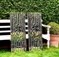 Decorative Scroll Ironwork Mirror Panels