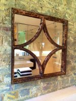 Decorative Square Rustic Window Mirror