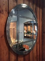 Circular Iron Window Mirror