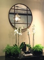 Architectural Rustic Circular Window Mirror