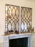 Irish Elegant Stunning Art Deco Design Window Mirror Panels