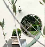 Large Bespoke Round Garden Window Mirror