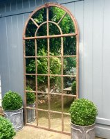 Very Tall Arch Garden Vintage Window Mirror