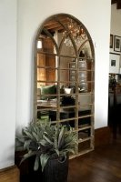 Antique Hop Barn Rustic Window Mirror