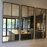 Six Panel Hand Polished Architectural Mirror Panels