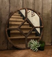 Small Rustic Architectural Mirror
