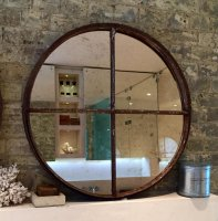 Architectural Rustic Circular Mirrors