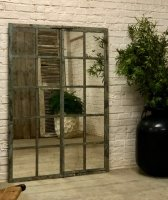 Grey Textures and Tones Home and Garden Window Mirror