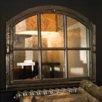 Small Kentish Farm House Cast Iron Window Frame Mirror
