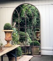 Extra Tall Arched Antique Window Mirror