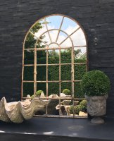 Full Arch Ironwork Window Garden Mirror
