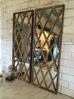 Harlequin Style Antique Window Frame Mirror