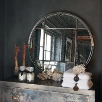 Ex Humberside Mill Gable End Cast Iron Fame Mirror