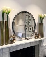 Original Iron Circular Polished Window Mirror
