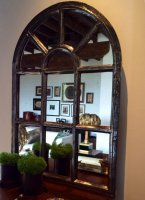French Arch Industrial Mirror