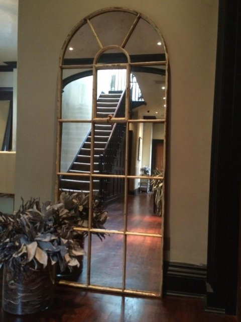 Tall Arch Decorative Window Mirror Tall Arch Window Mirror