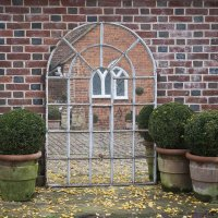 Orangery 28 Panel Cast Iron Window Frame Mirror