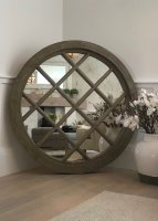Extra Large Wooden Architectural Mirror