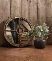 Set of Circular Rustic Charm Antique Mirrors