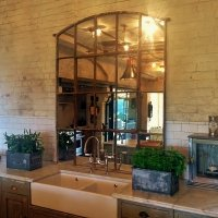 Rustic Architectural Slow Arch Window Mirror